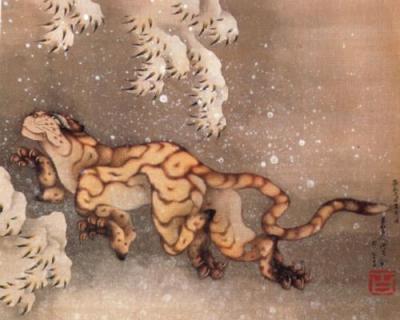 katsushika-hokusai-vecchia-tigre-nella-neve